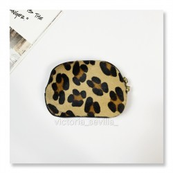 Monedero estampado print animal